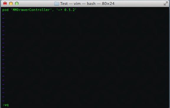 Creating Podfile