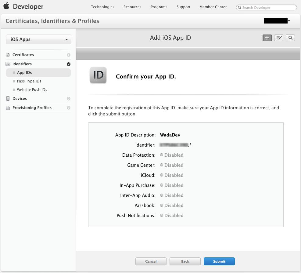 ようやく半分くらい-- Confirm iOS App ID --