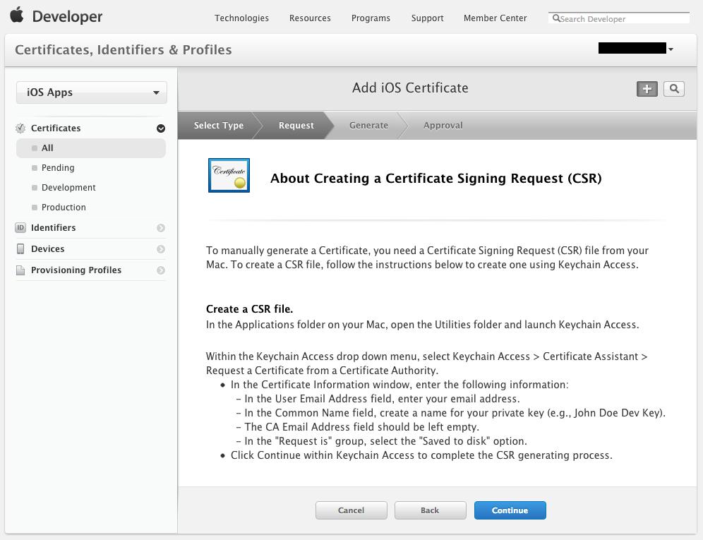 5つの手順で簡単!といかないから困る-- Create Certificate Sign Request --